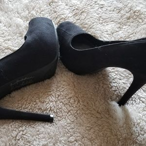 Gorgeous black suede stilettos